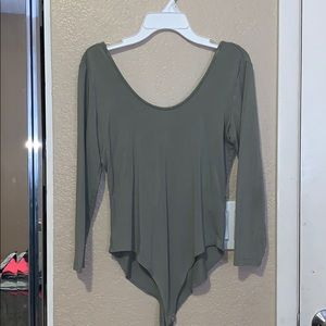 Forever 21 Scoop Neck Olive One Piece